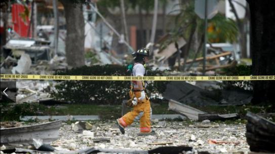 Grandes destrozos  deja una explosión en un centro comercial de Florida