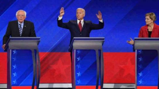 Sanders y Biden 'ganan' el debate demócrata