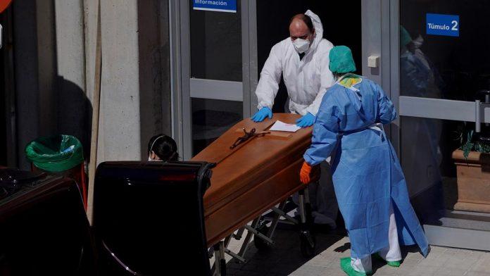 812 muertos en 24 horas en España y ya suman más de 7000 muertos