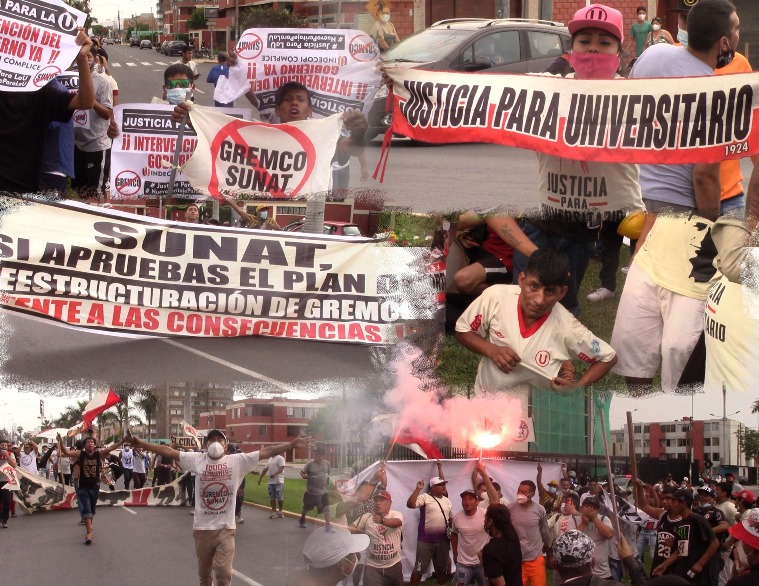 Hinchas de Universitario realizaron protesta pacífica frente a Indecopi