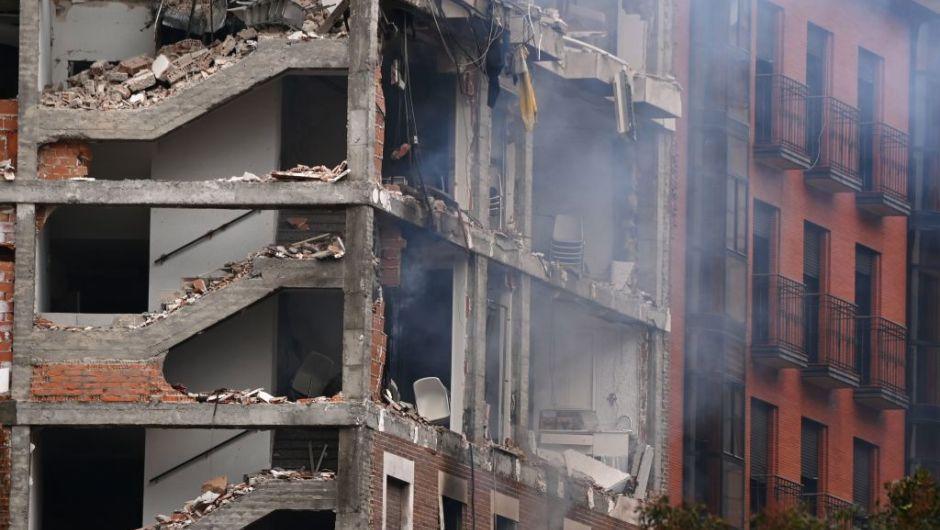 Explosión en edificio de Madrid deja varios muertos